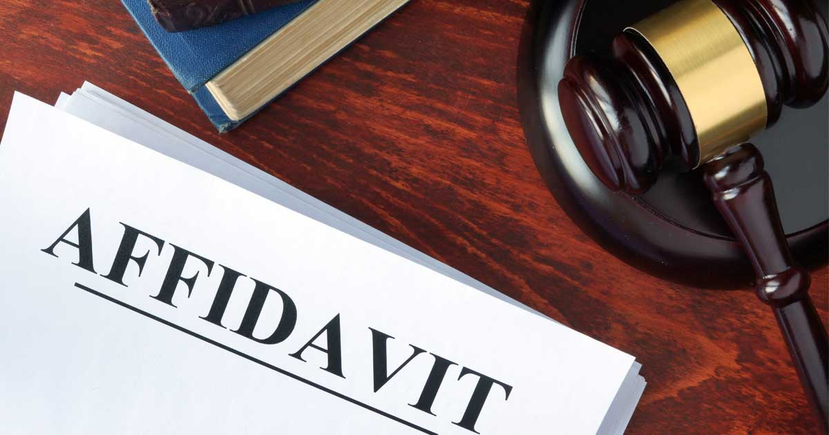 Affidavit of Assets and Means in Divorce Proceedings